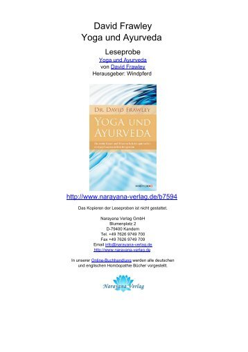 David Frawley Yoga und Ayurveda