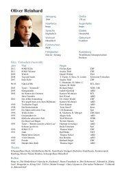 Oliver Reinhard - kick-schauspieler