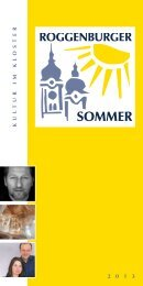 Programmheft zum Roggenburger Sommer 2013 - Kloster ...