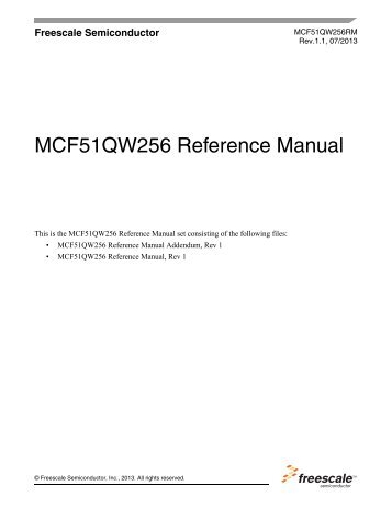 MCF51QW256 - Reference Manual - Freescale