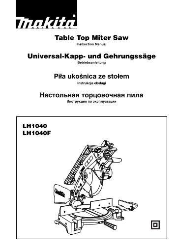 Table Top Miter Saw Universal-Kapp- und Gehrungssäge ... - Makita