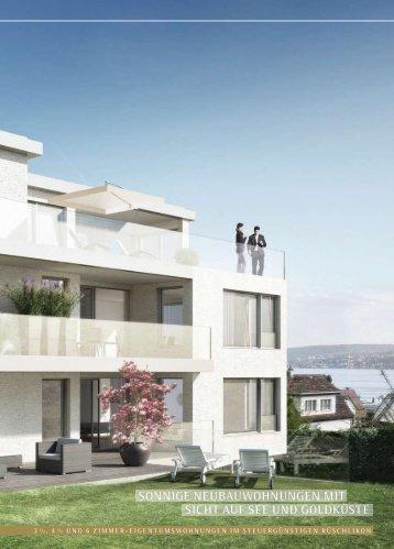 sonnige neubauwohnungen mit sicht auf see und ... - theClip.ch