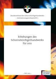 Erhebungen des Schornsteinfegerhandwerks für 2011