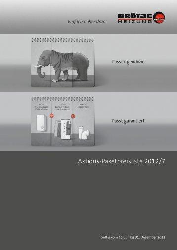 Aktions-Paketpreisliste 2012/7 - Brötje