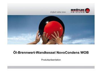 Öl-Brennwert-Wandkessel NovoCondens WOB