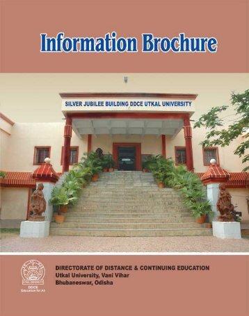 Information brochure - DDCE, Utkal University, Bhubaneswar