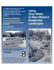 Using Gray Water in Residential Landscapes - New Mexico ...