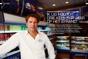'ik lig hooguit drie keer per jaar op het Strand' - Nikki Sterkenburg