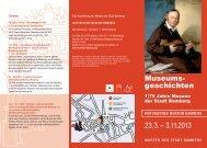 Museums- geschichten - Museen der Stadt Bamberg