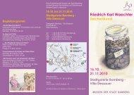 Flyer zur Ausstellung - Museen der Stadt Bamberg