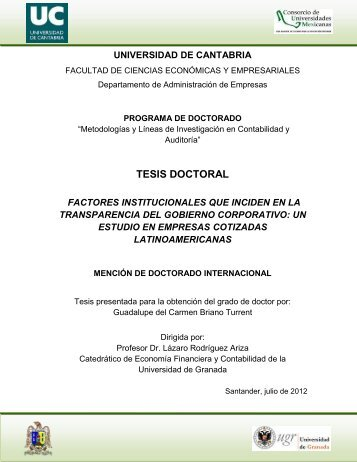 Factores institucionales que inciden en la transparencia del ...