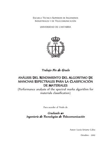 análisis del rendimiento del algoritmo de manchas espectrales para ...
