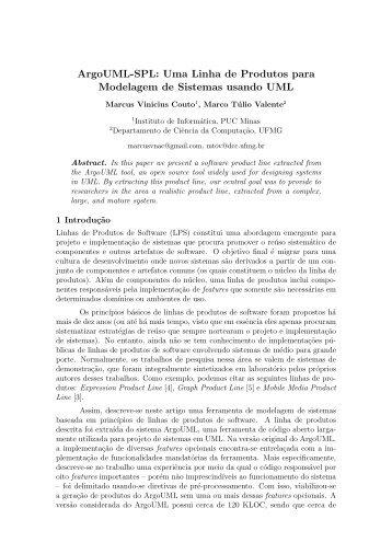 ArgoUML-SPL: Uma Linha de Produtos para Modelagem de ...