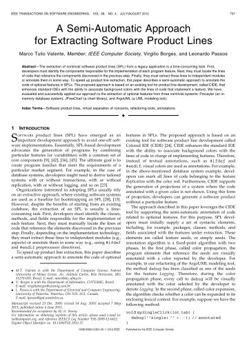 A Semi-Automatic Approach for Extracting Software ... - IEEE Xplore