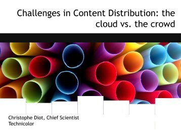 Challenges in Content Distribution: the cloud vs. the crowd - SBRC