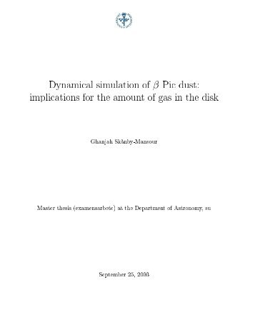 Dynamical simulation of beta Pictoris dust