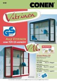Alle Vitrinen - Conen GmbH & Co. KG