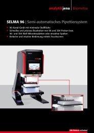 SELMA 96 | Semi-automatisches Pipettiersystem - Analytik Jena AG