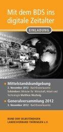 Mit dem BDS ins digitale Zeitalter - Kreisorganisation Weimar ...