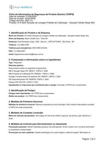 Solução Padrão Slope (Kit).pdf - Proteção Ambiental Bayer