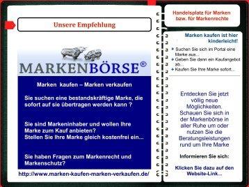 Die Markenbörse: Marken kaufen - Marken verkaufen...