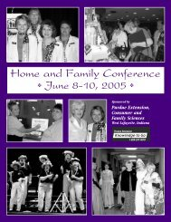 Home and Family Conference June 8-10, 2005 - Purdue Extension ...