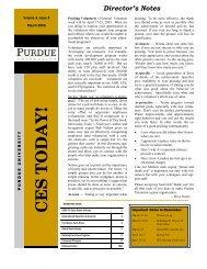 CES TODAY! - Purdue Extension - Purdue University
