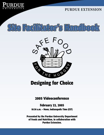 Safe Food for the Hungry Site Facilitator's Guide - Purdue Extension ...