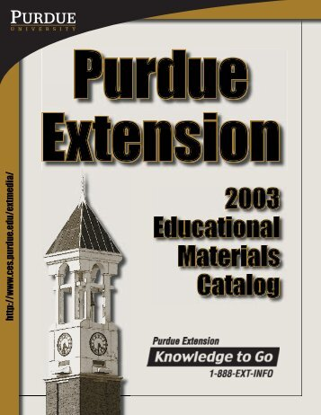 Purdue Extension 2003 Educational Materials Catalog