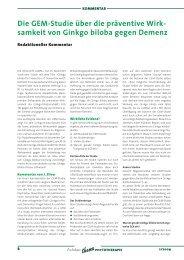 Die GEM-Studie über die präventive Wirk- samkeit von ... - Astral