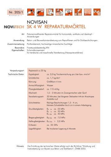NOVISAN SK 4 W REPARATURMÖRTEL - Schretter & CIE