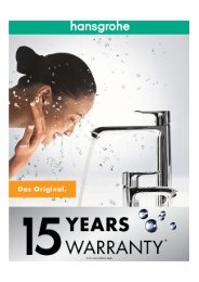 Hansgrohe Pty Ltd Warranty