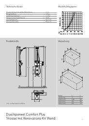 Duschpaneel Comfort Plus Triostat mit Renovations-Kit ... - Hansgrohe