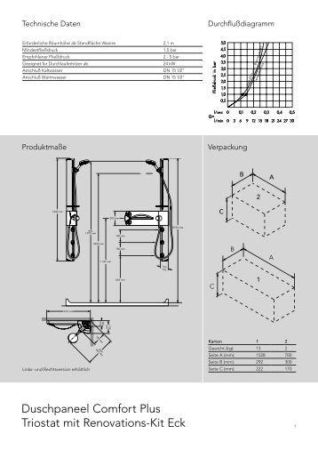 duschpaneel comfort plus einhebelmischer hansgrohe. Black Bedroom Furniture Sets. Home Design Ideas