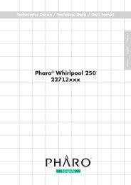 Pharo® Whirlpool 250 22712xxx Technische Daten ... - Hansgrohe