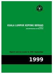 KUALA LUMPUR KEPONG BERHAD - Announcements