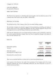 Company No: 239256 M JASA KITA BERHAD ... - Announcements