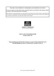 CIRCULAR TO SHAREHOLDERS IN RELATION TO Proposed ...