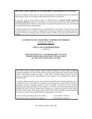 eastern pacific industrial corporation berhad ... - Announcements
