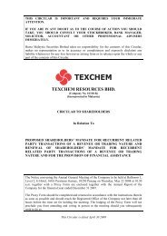 TEXCHEM RESOURCES BHD. - Announcements - Bursa Malaysia