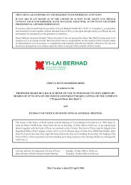 CIRCULAR TO SHAREHOLDERS in relation to the PROPOSED ...