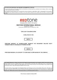 redtone international berhad - Announcements - Bursa Malaysia