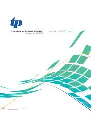 tomypak holdings berhad annual report 2012 - Announcements ...