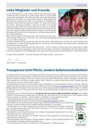 Liebe Mitglieder und Freunde, Transparenz ... - Andheri-Hilfe Bonn