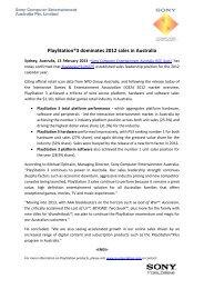 PlayStation®3 dominates 2012 sales in Australia - PlayStation Press ...