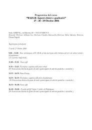 """Programma del corso """"WAIS-R: Aspetti clinici e qualitativi ... - DPSS"""