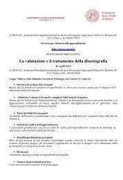 La valutazione e il Trattamento della Disortografia.pdf - DPSS ...