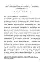 La psicologia sociale italiana e le sue relazioni con lo scenario della ...