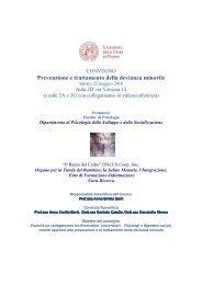 Prevenzione e trattamento della devianza minorile - DPSS