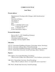 CURRICULUM VITAE Anne Maass Present address ... - DPSS